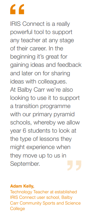 Quote about professional learning and school collaboration